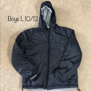 Boys 10/12 (L) Polar Edge Reversible Coat